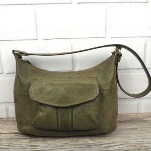 Fossil olive pebble soft leather hobo bag